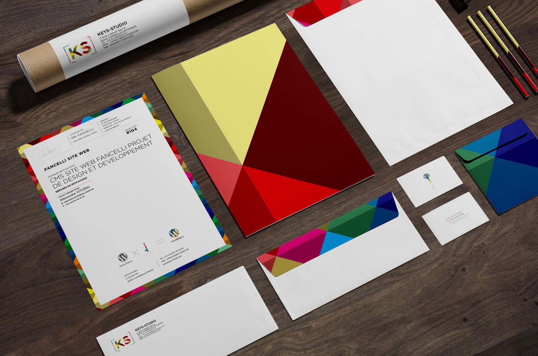 Visuel et design pour papeterie, Keys-Studio