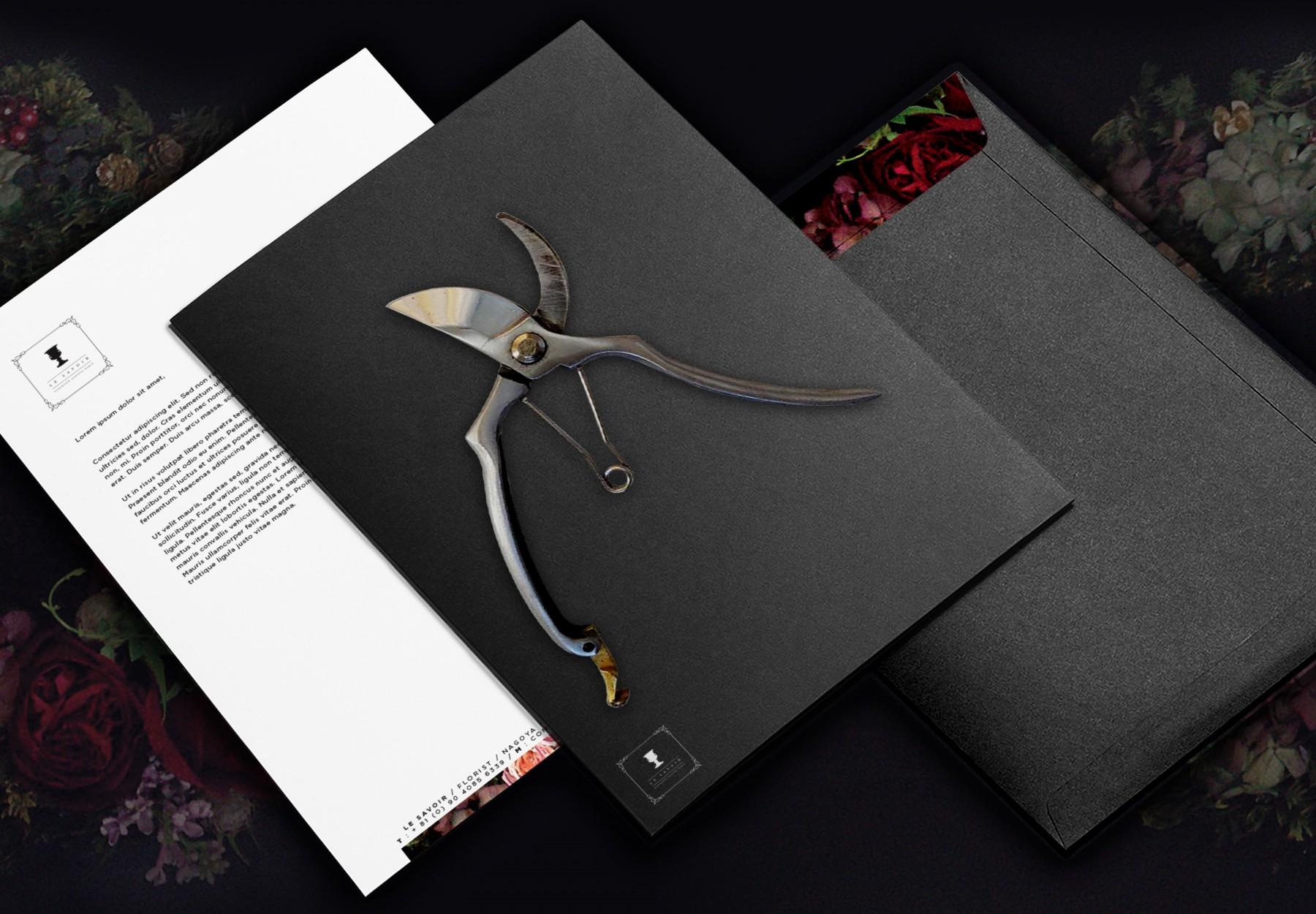 Design pour papeterie crée par Keys-Studio pour l